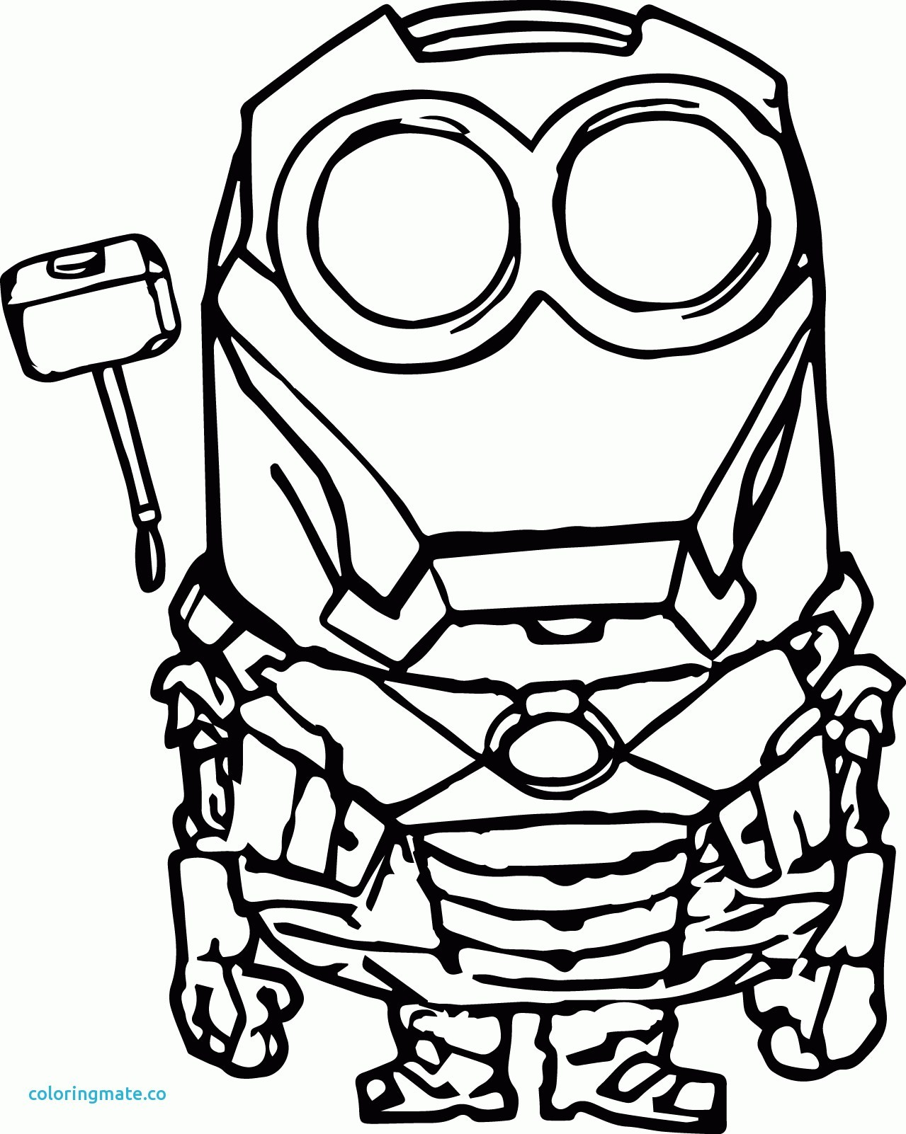1279x1602 Coloring Pages Of Minions Bob Copy Minion Coloring Pages Free