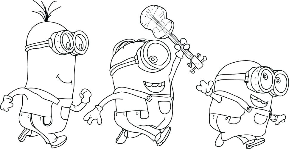 970x502 Minion Coloring Pages Minions Coloring Pages Printable Minion