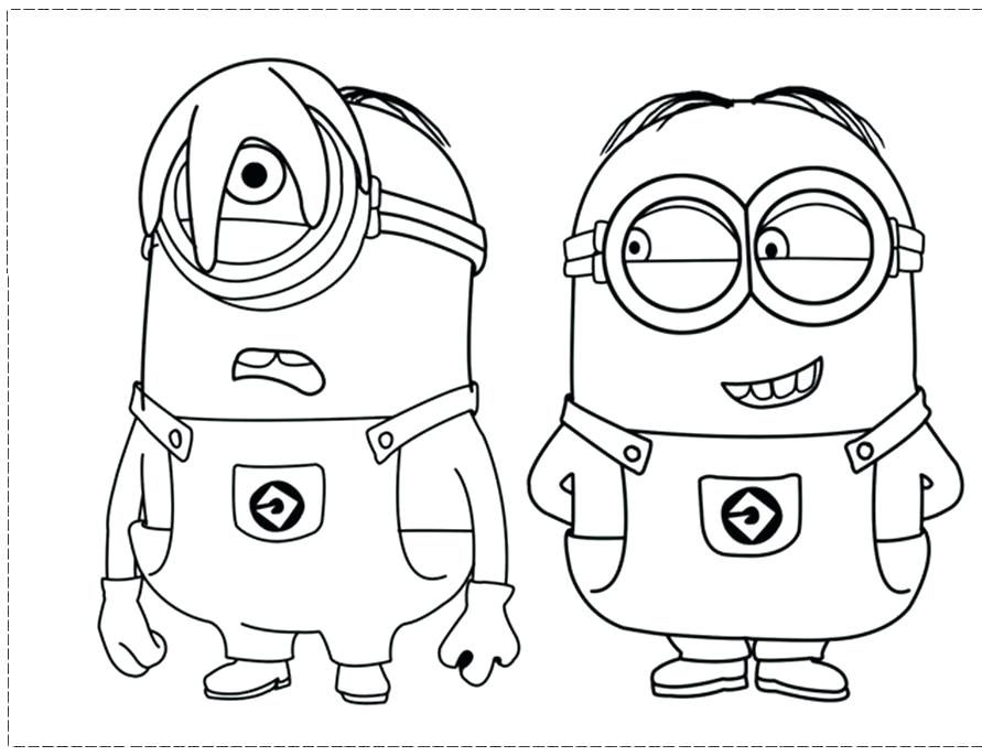 891x686 Despicable Me Coloring Pages For Kids Free Printable Minion Minion