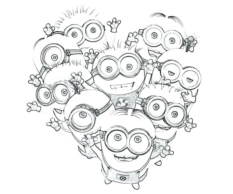 800x667 Despicable Me Minion Coloring Pages Minion Coloring Pages Online