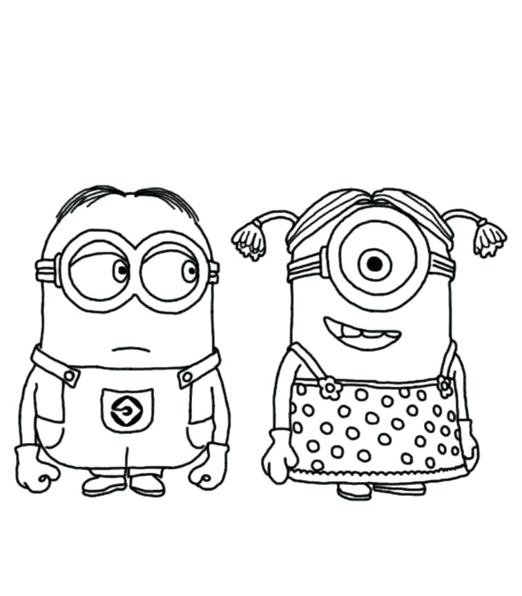 756x864 Free Printable Minion Colouring Pages Coloring Online Sheets