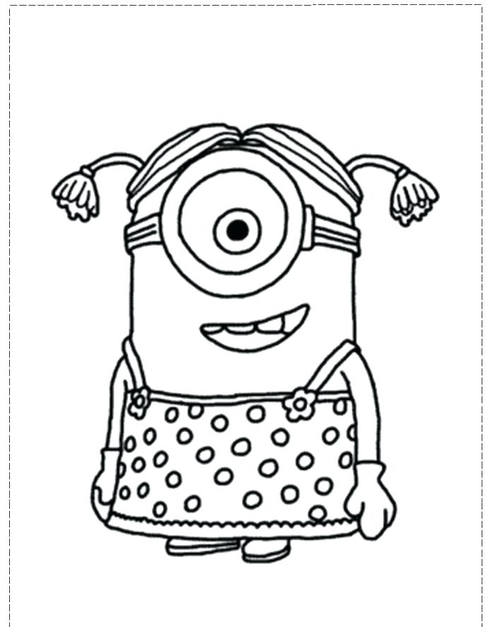 691x888 Great Minion Couple Despicable Me Coloring Pages Printable