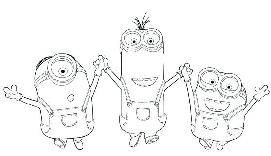 557x321 Minion Coloring Pages Printable