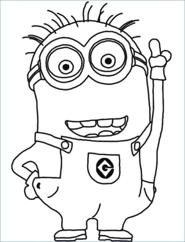 600x783 Minion Coloring Pages To Print