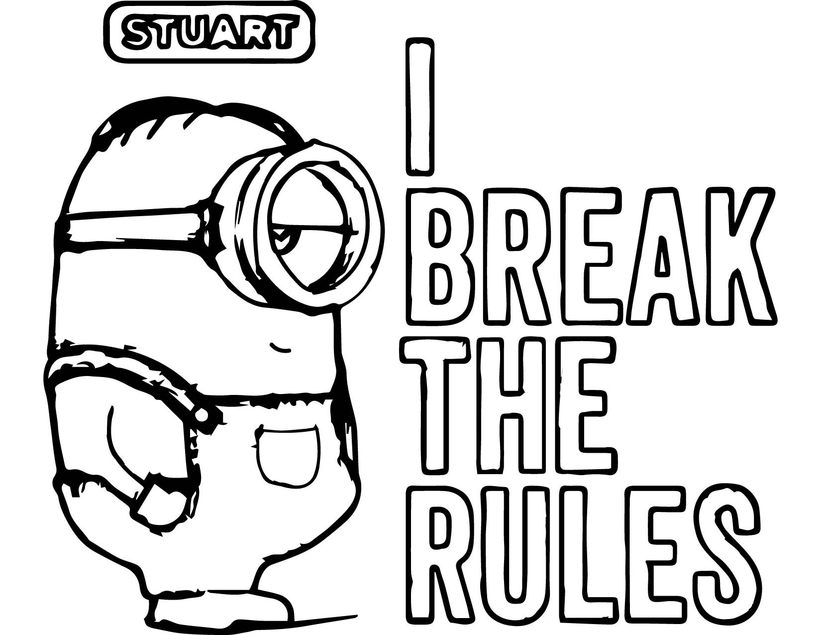 1650x1275 Coloring Sheets For Kids To Print Minions Quotes