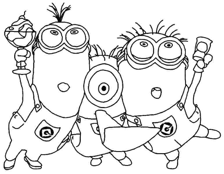 771x600 Minion Coloring Pages