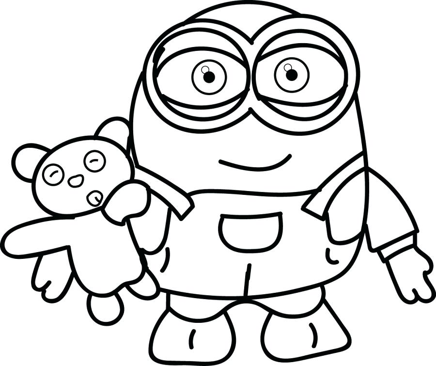 900x755 Color Page Printables Free Minion Coloring Page Printable Download