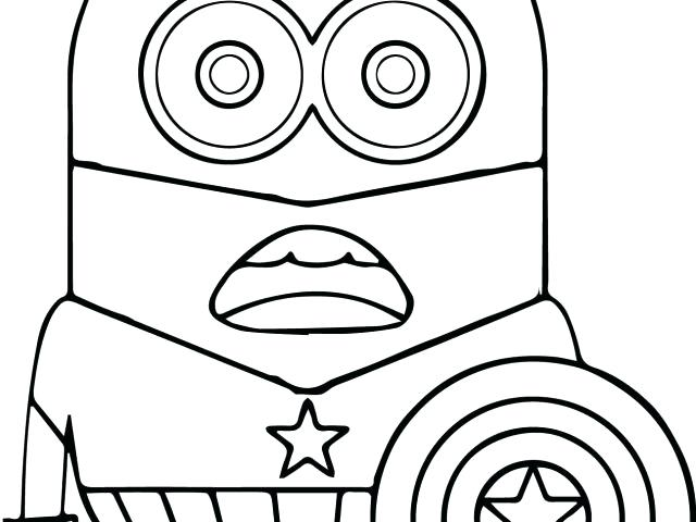 640x480 Minion Coloring Pages To Print Minion Halloween Coloring Pages