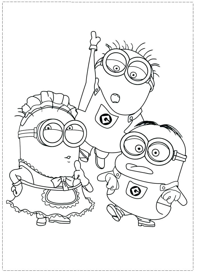 691x960 Minions Coloring Pages To Print
