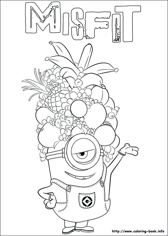 567x794 Printable Minions Coloring Pages