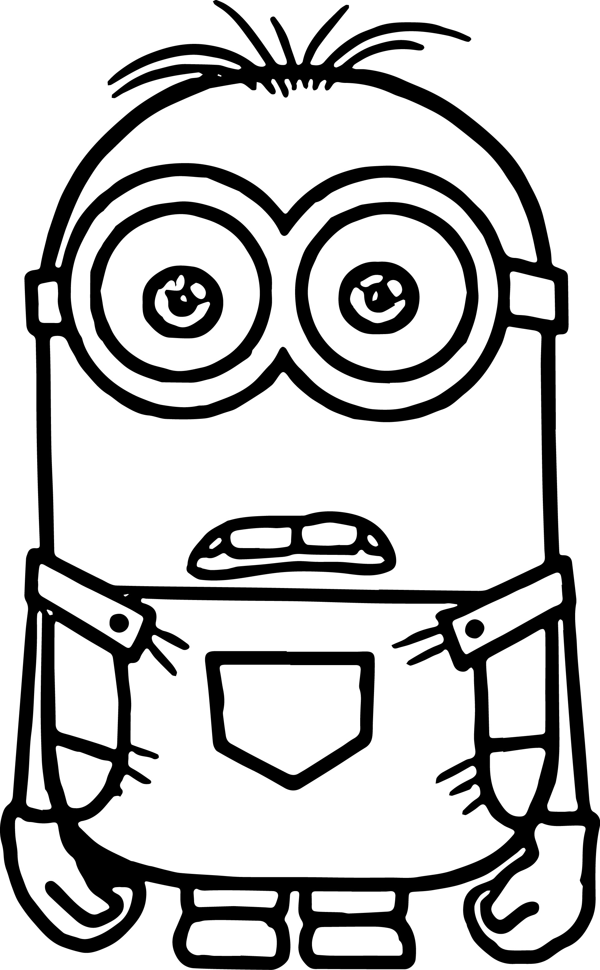 1954x3159 Coloring Pages Minions Animation Movies Printable Throughout