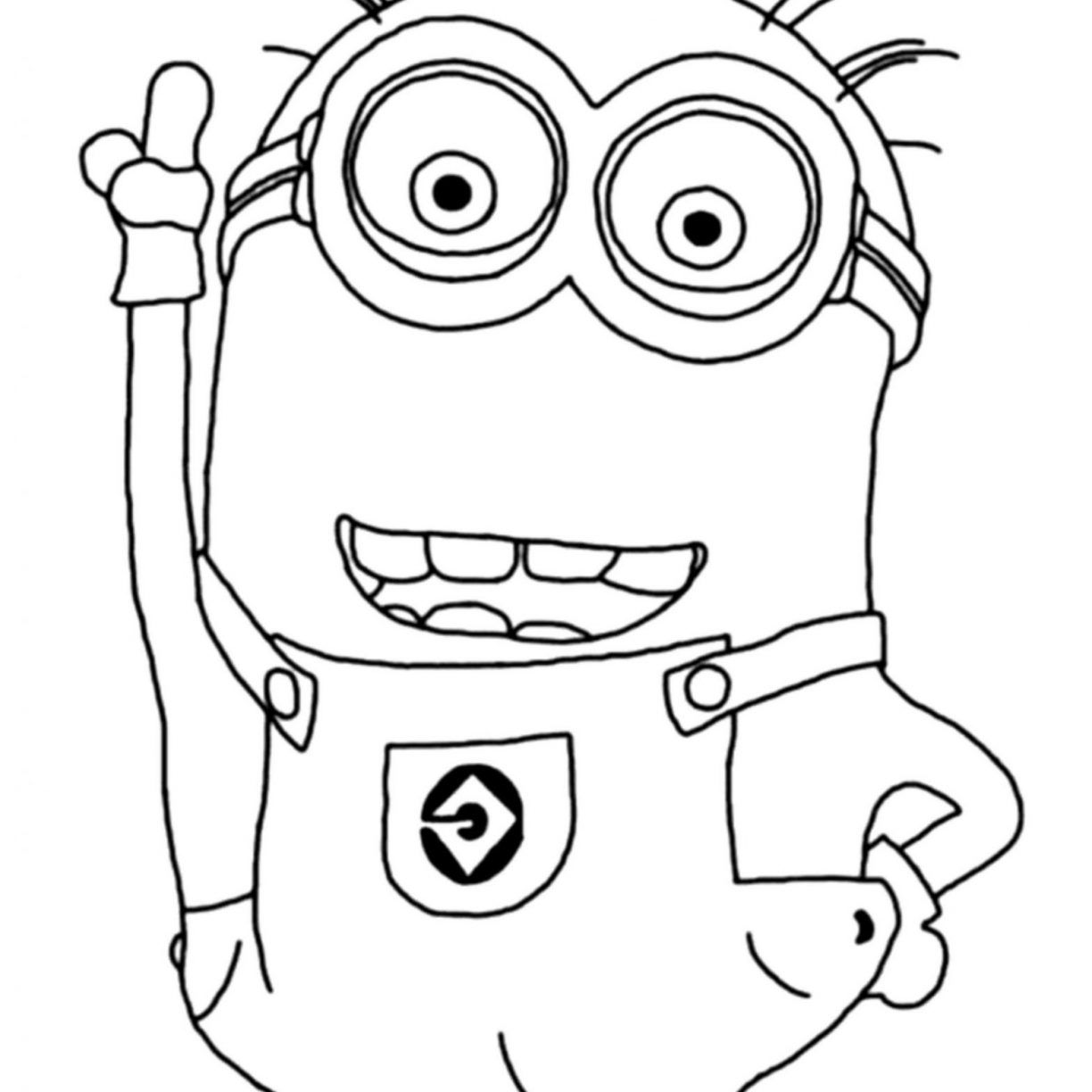1224x1224 Despicable Me Minions Coloring Pages Printable For Free General