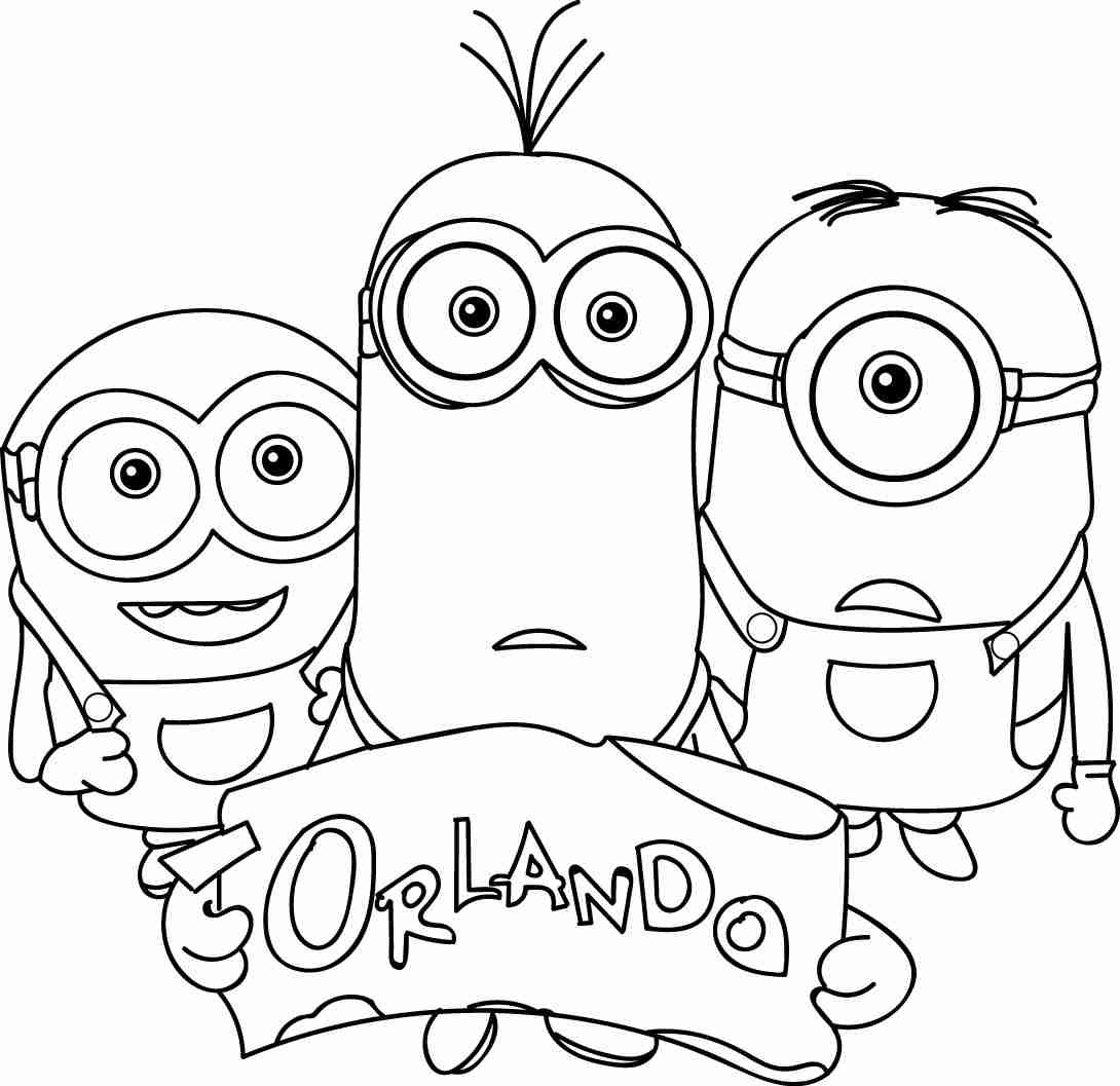 1090x1057 Minion Kevin Coloring Page For Alluring Pages Minions