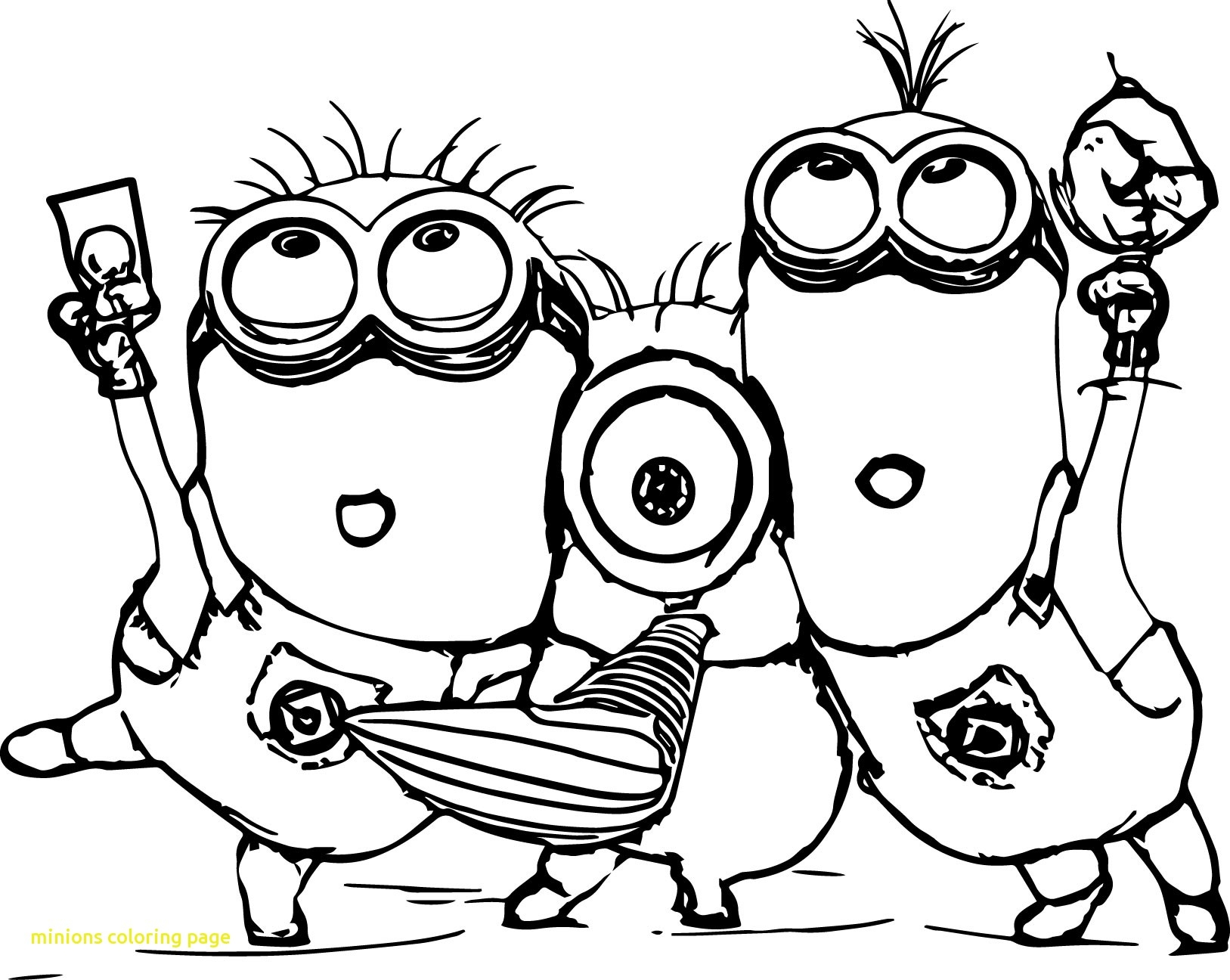 1627x1296 Minion Kevin Coloring Page Minions Color Sheet The Pages To New