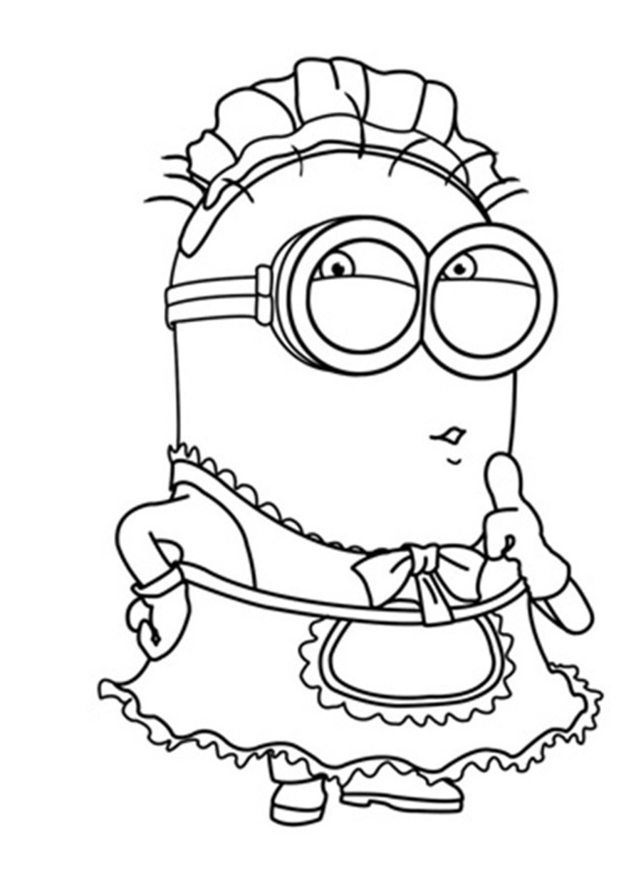 900x1248 Minion Kevin Coloring Page To Printable Pages