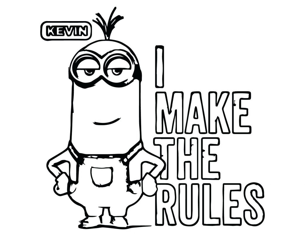 1043x806 Coloring Pages For Adults Animals Minions Kevin The Minion