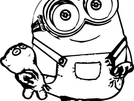 Minion Valentine Coloring Pages