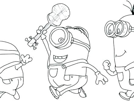 440x330 Minion Coloring Page Despicable Me Evil Minion Coloring Pages