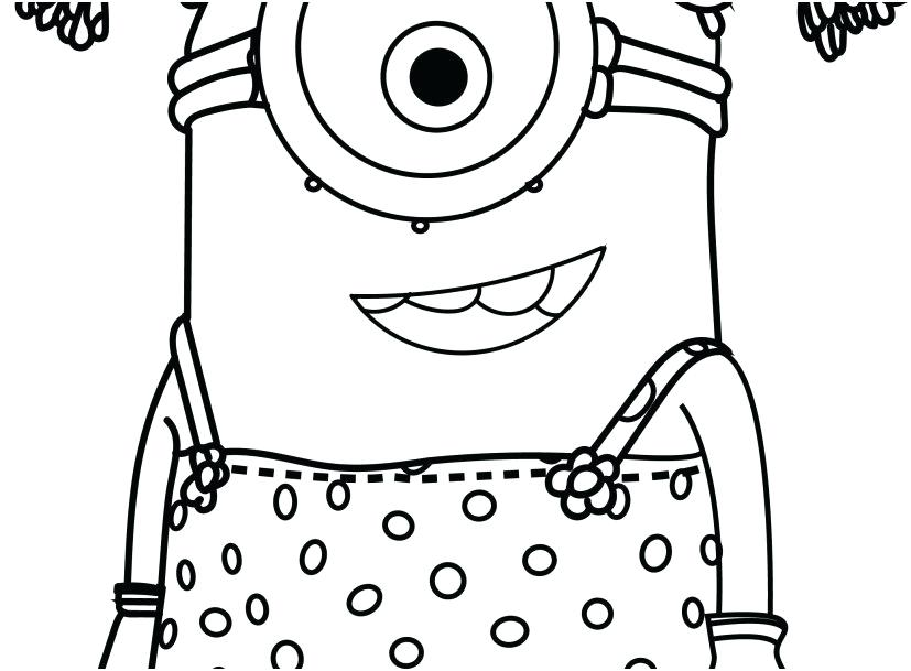 827x609 Minion Coloring Pages To Print Minion Coloring Pages To Print