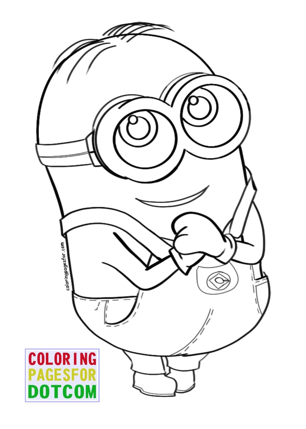 1000x1400 Best Good Minions Coloring Page Wecoloringpage Of Concept