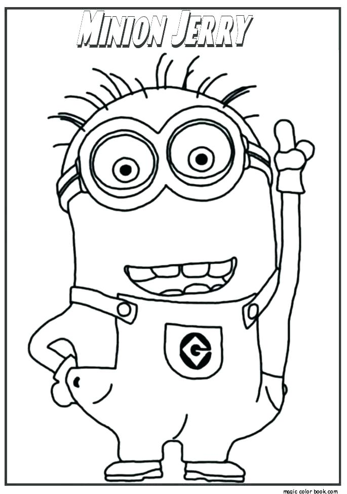 685x975 Minions Coloring Pages To Print Cute Easy Coloring Pages Free