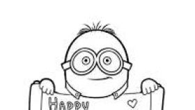 280x158 Minions Valentines Day Coloring Pages Enam Valentine