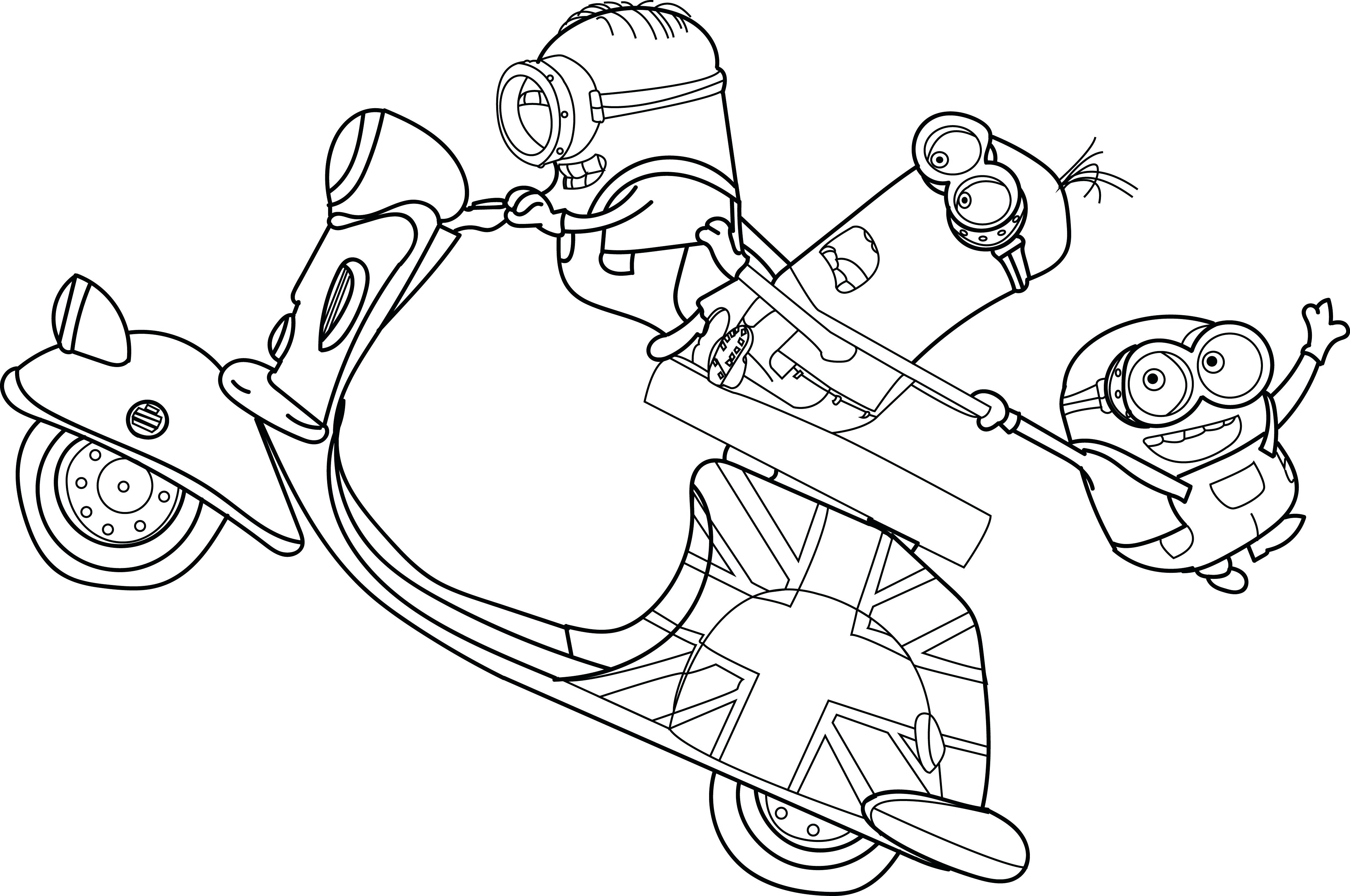 4217x2800 Printable Minion Pictures Coloring Pages Stunning With Free Page