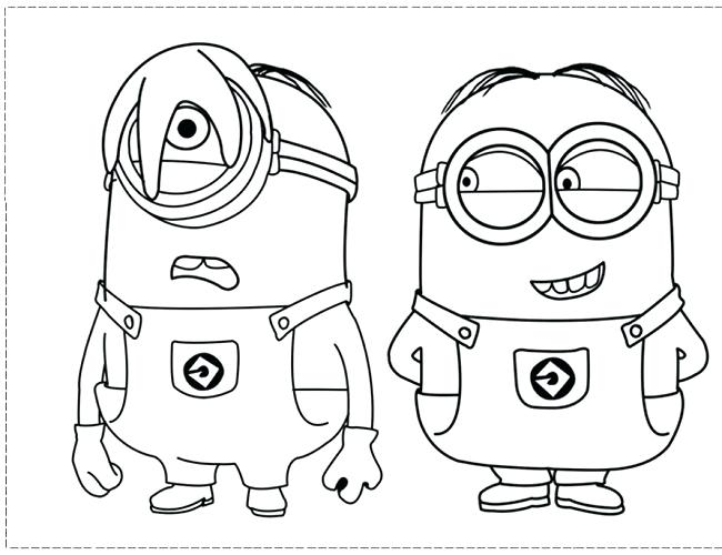 650x500 Printable Minion Valentine Coloring Pages Best Images On Children