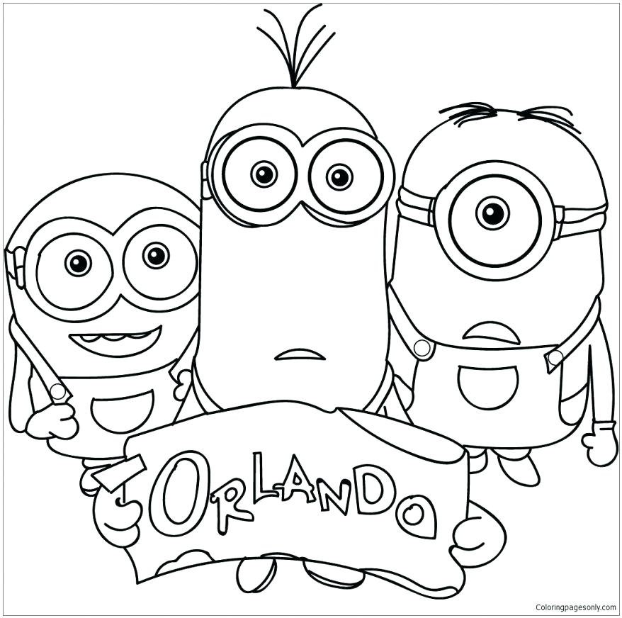 878x872 Printable Minions Coloring Pages Coloring Family Minions Coloring