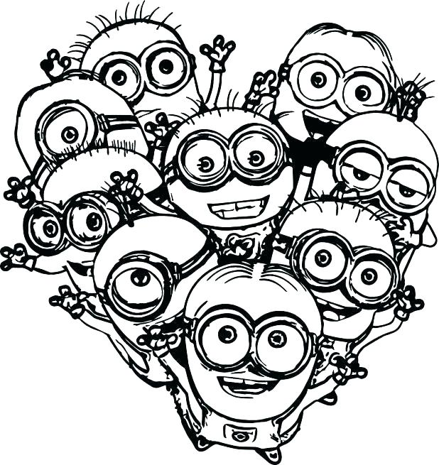 618x655 Printable Minions Coloring Pages Minion Coloring Pages Minion