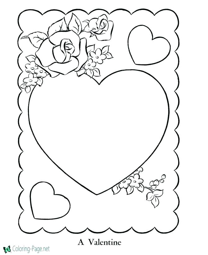 670x820 Valentines Hearts Coloring Pages