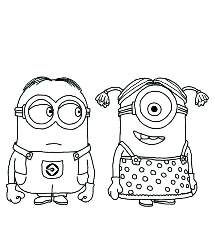 756x864 Minion Printable Coloring Pages
