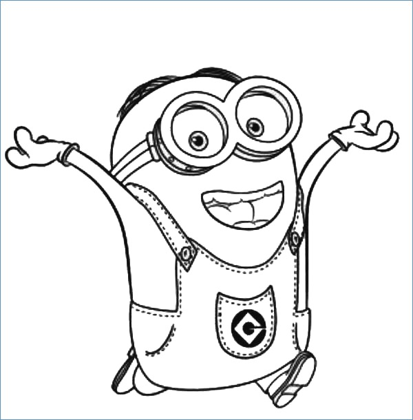 600x610 Minion Coloring Pages To Print