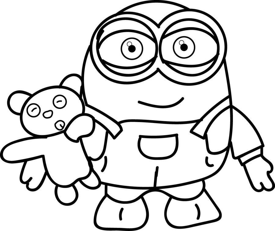 900x755 Minion Coloring Pages