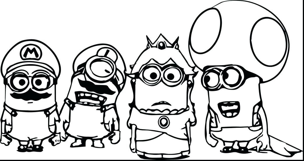 1043x553 Minions Coloring Pages Pdf Large Size Of Minion Coloring Pages