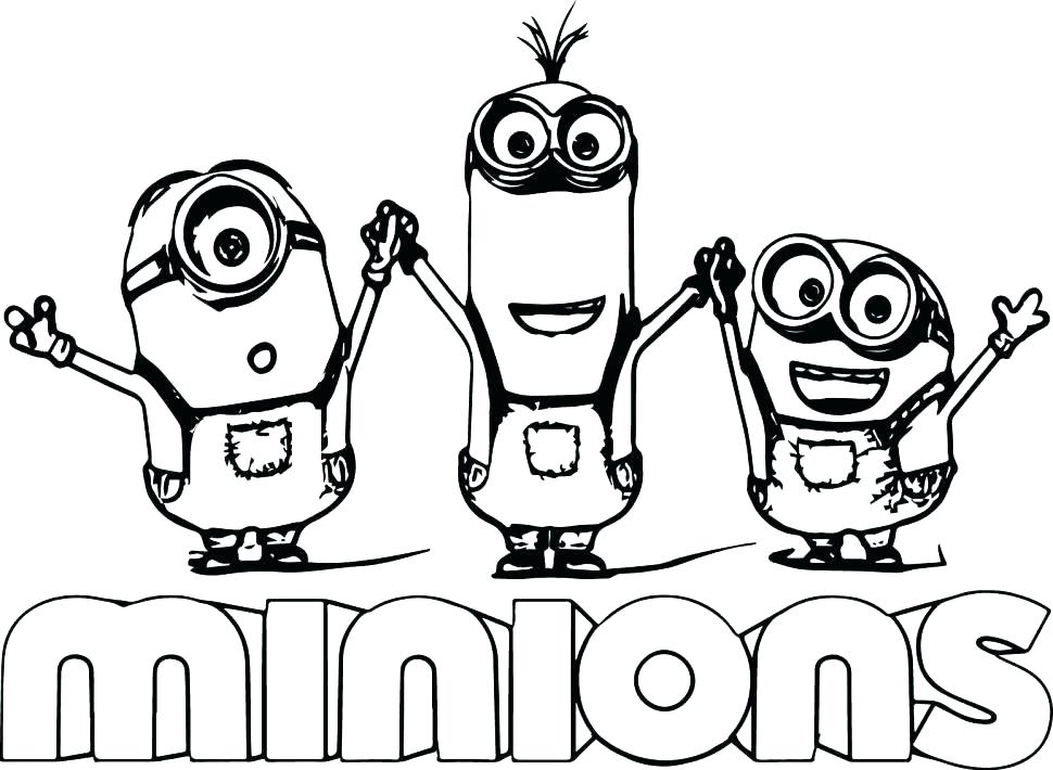 Minions Coloring Pages Pdf At Getdrawings Free Download