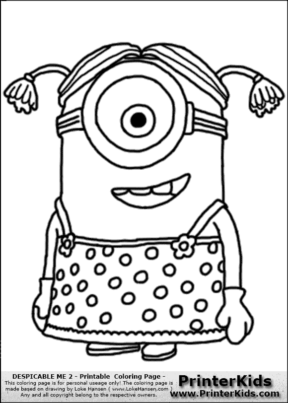 580x812 Despicable Me Minions Coloring Pages