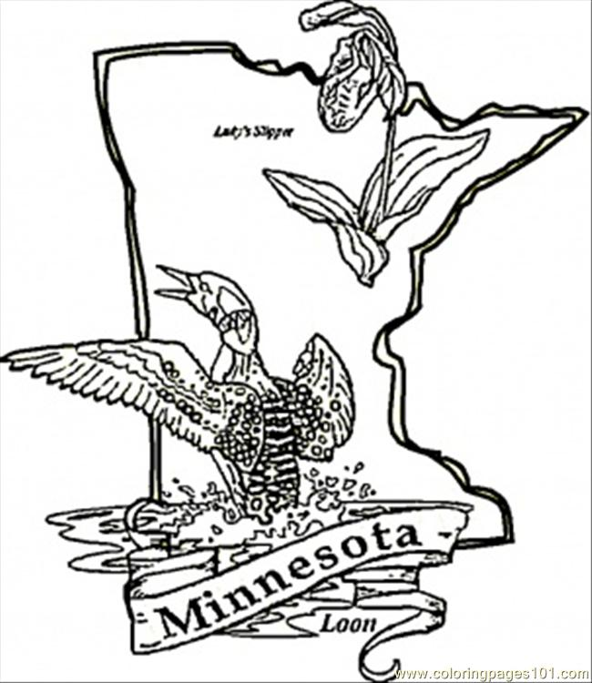 650x750 Minnesota Coloring Pages
