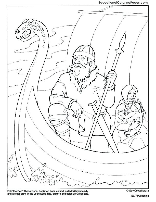 612x792 Viking Ship Coloring Pages Minnesota Viking Coloring Pages