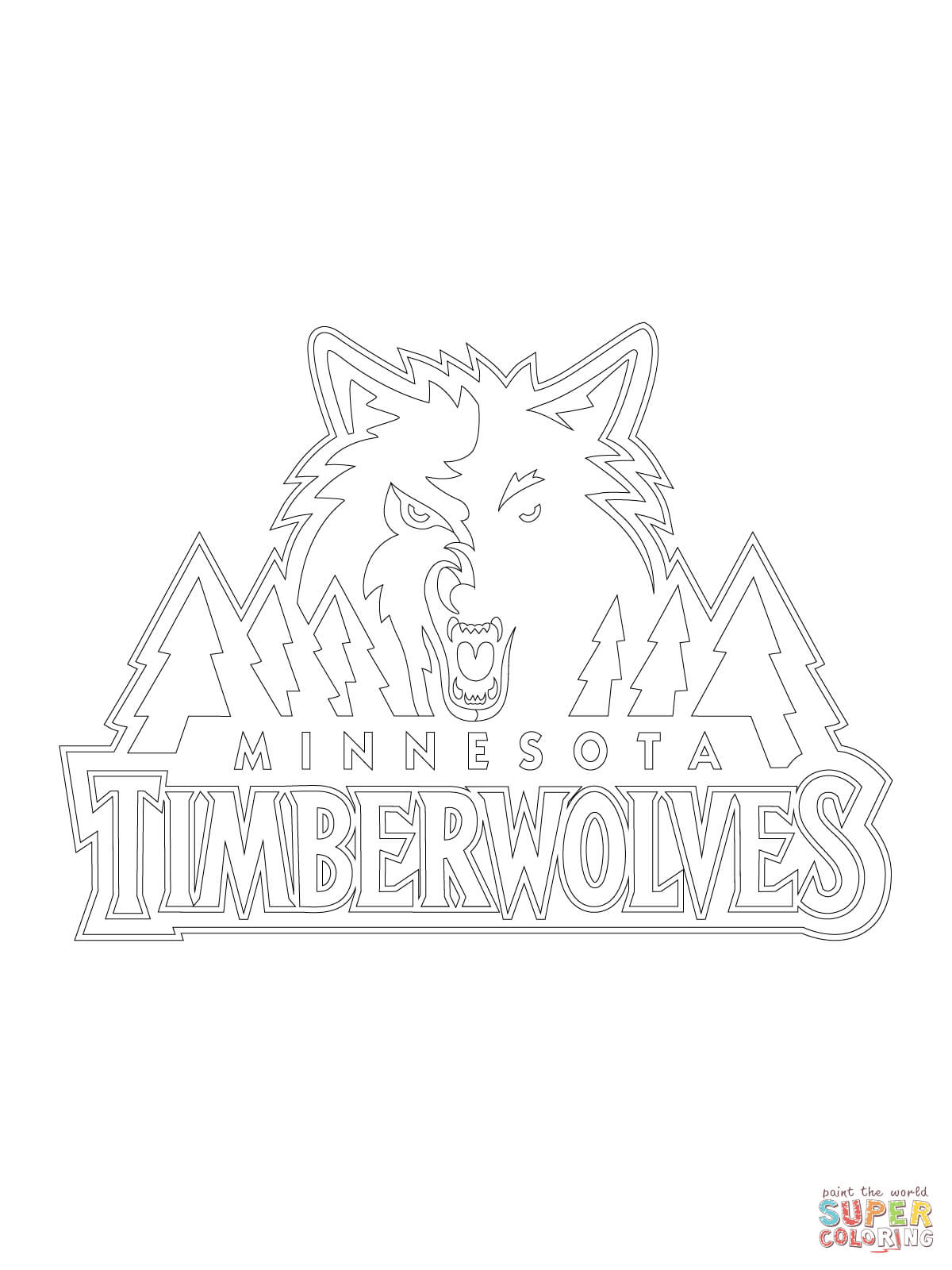 1200x1600 Helpful Timberwolves Coloring Pages Minnesota