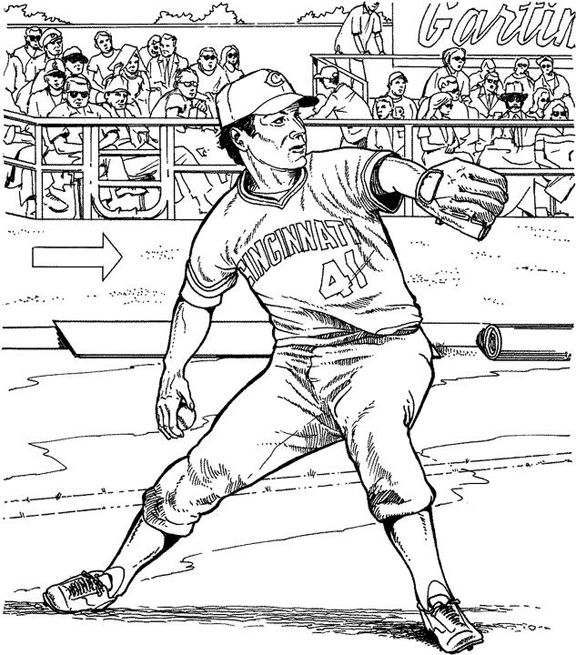 576x655 Baseball Coloring Pages
