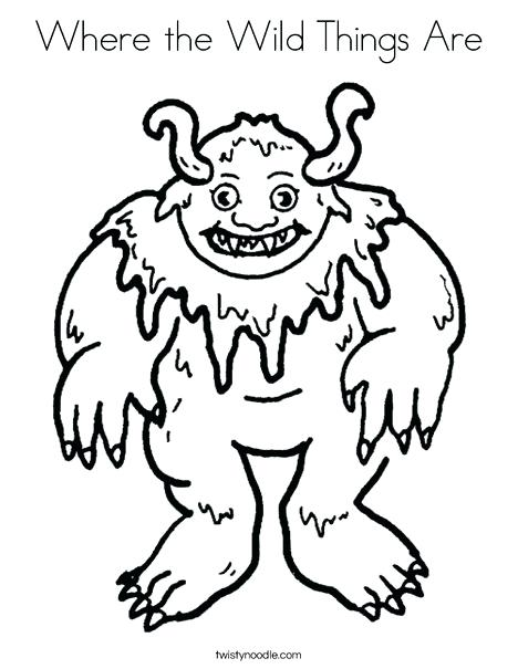 468x605 Where The Wild Things Are Coloring Page Monster Coloring Page Wild