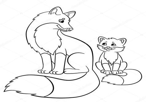476x333 Cute Fox Coloring Page Image Clipart Images