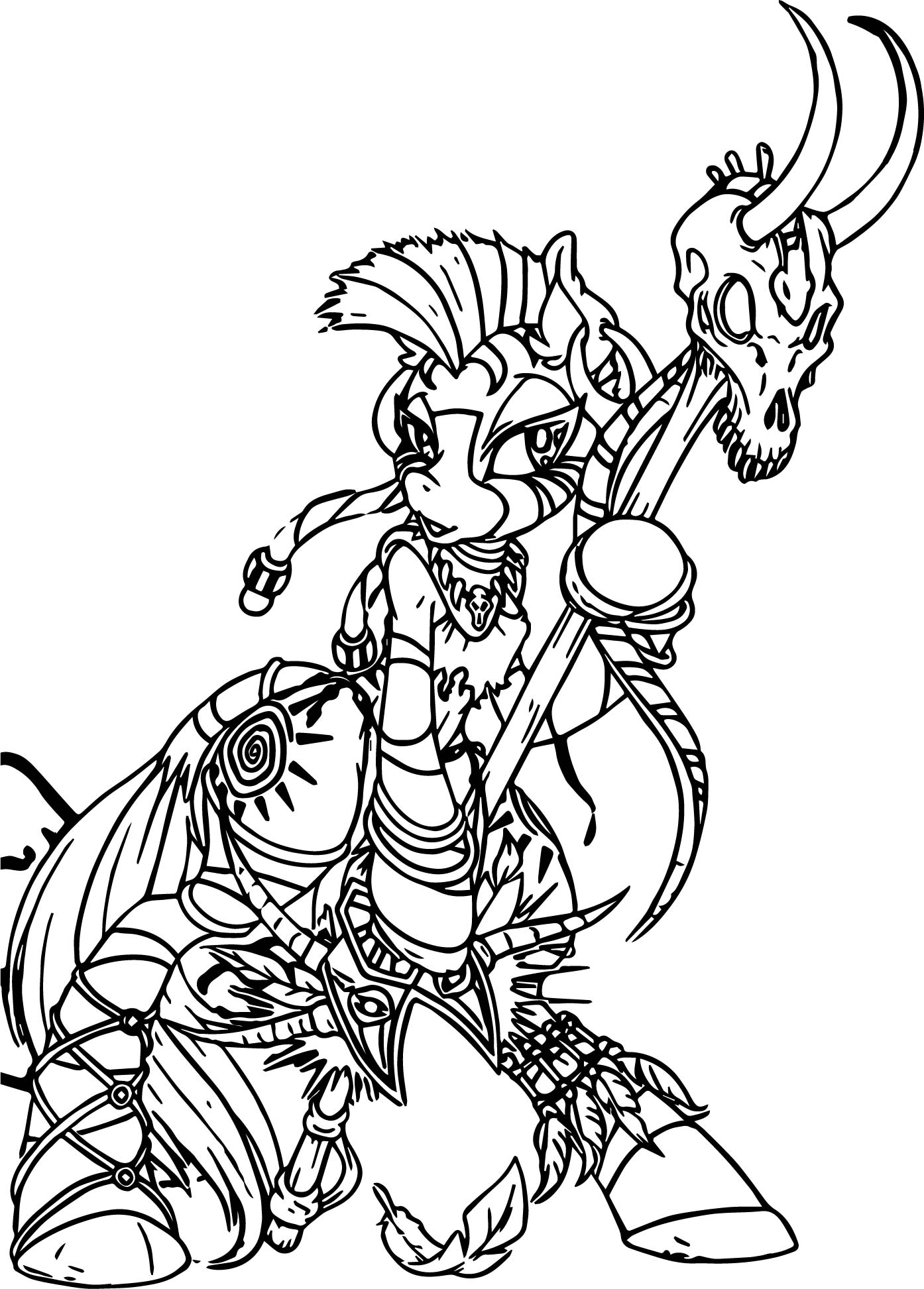 1394x1945 Zecora Witch Doctor Color Anime Apothecary Coloring Page
