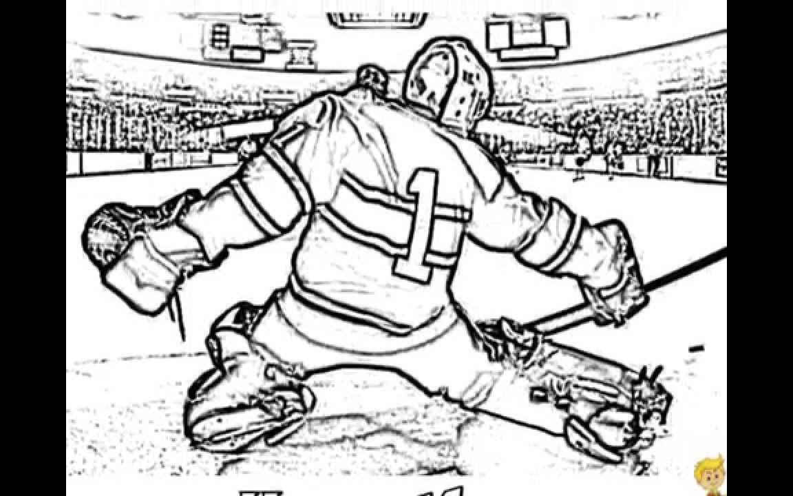 1152x720 Hockey Colorings Bruins Free Online Nhl Goalie Beautiful Coloring