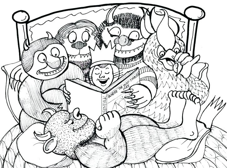 728x539 Land Before Time Coloring Page Pages Where The Wild Things Are