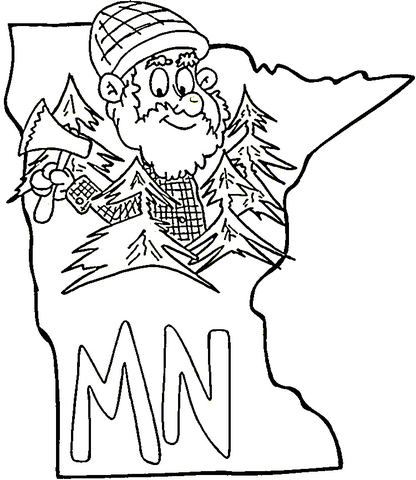 416x480 Minnesota Map Coloring Page Maps Travel Places Etc