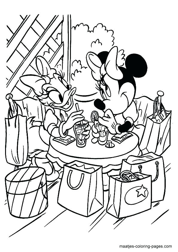 595x842 Minnie Bowtique Coloring Pages Coloring Pages Mouse And Daisy Duck