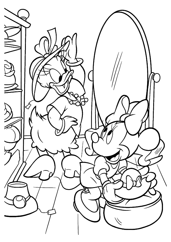 595x842 Daisy Duck Coloring Pages