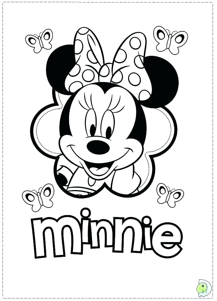 691x960 Minnie Mouse And Mickey Mouse Coloring Pages Baby Mouse Birthday